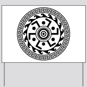 Greek Art - Decorative Circle Yard Sign