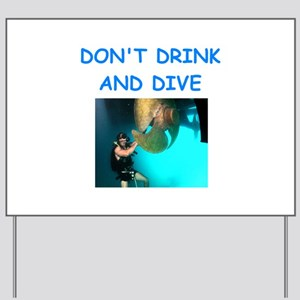 scuba diving Yard Sign
