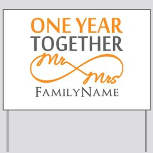 Gift For 1st Wedding Anniversary Yard Sign