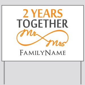 Gift For 2nd Wedding Anniversary Yard Sign