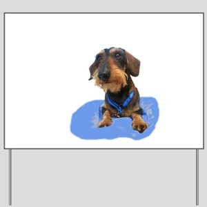 Wirehair Dachshund Yard Sign