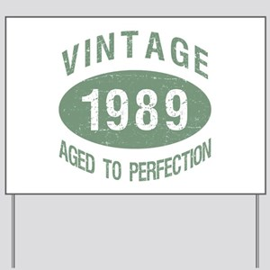 1989 Vintage Birthday Yard Sign