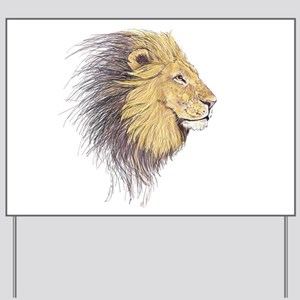 Lion Head Yard Sign