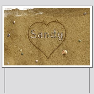 Sandy Beach Love Yard Sign