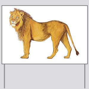 Lion Yard Sign