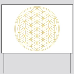Flower of Life Gold Line Yard Sign