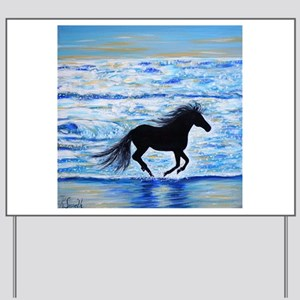 Running Free by the Sea 2 Yard Sign