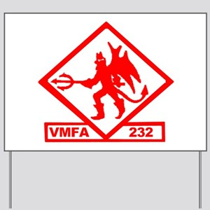 VMFA 232 Red Devils Yard Sign