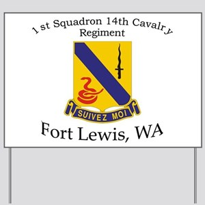 1st Squadron 14th Cavalry Yard Sign