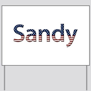 Sandy Stars and Stripes Yard Sign