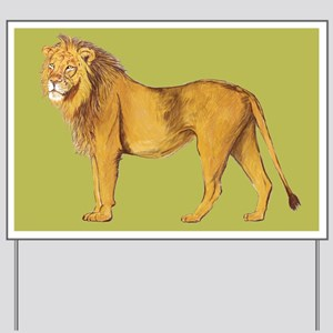 Lion green Yard Sign