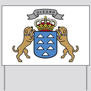 Canary Islands Coat of Arms Yard Sign