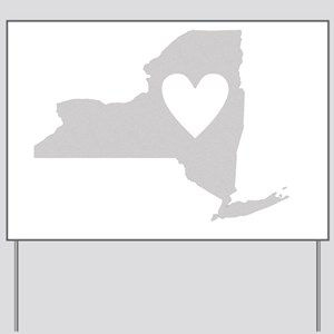 Heart New York state silhouette Yard Sign