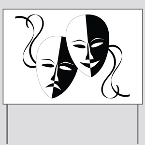 Theater Masks Yard Sign