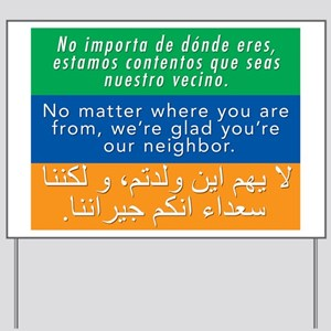Welcome Diversity Neighbor Sign Yard Sign