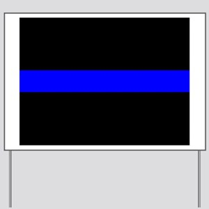 Thin Blue Line Yard Sign