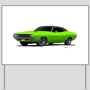 1970 Challenger Sub Lime Yard Sign
