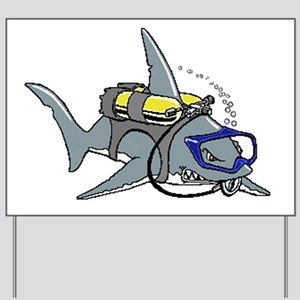 Scuba Shark Yard Sign