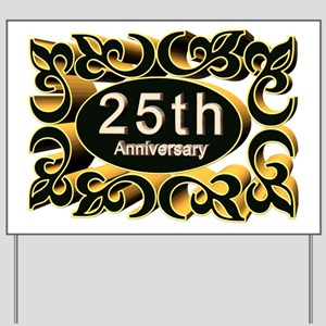 25th Wedding Anniversary Yard Sign