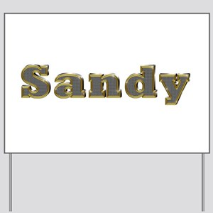 Sandy Gold Diamond Bling Yard Sign