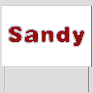 Sandy Santa Fur Yard Sign