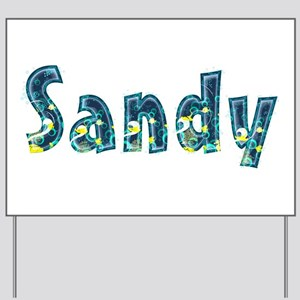 Sandy Under Sea Yard Sign