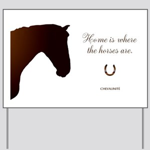 Horse Theme Design by Chevalinite Yard Sign