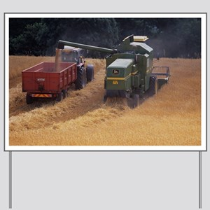 Combine harvester - Yard Sign
