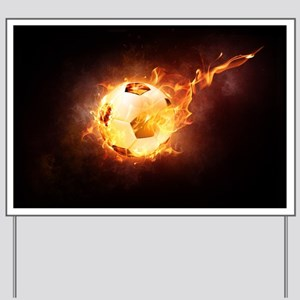 Fire Ball Yard Sign