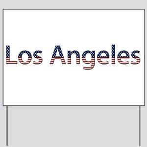 Los Angeles Stars and Stripes Yard Sign