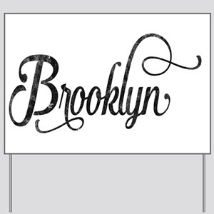 Brooklyn vintage typography Yard Sign