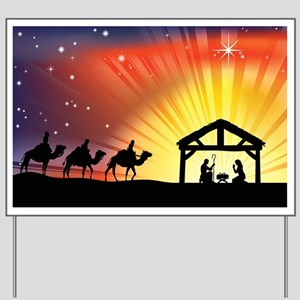 Christian Nativity Scene Yard Sign