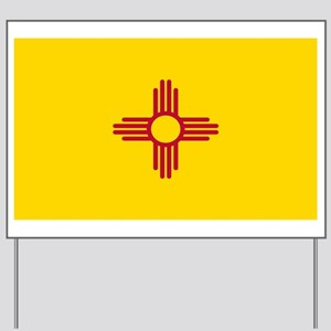 New Mexico Flag Yellow Yard Sign