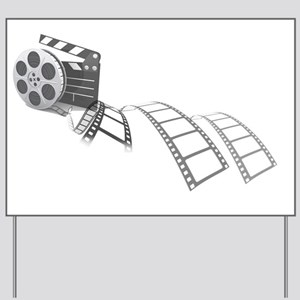 Film Reel Yard Sign