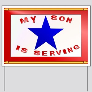 BLUE STAR_Son Serving Yard Sign
