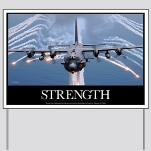 Military Motivational Poster: An AC-130H Yard Sign