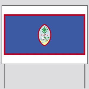GUAM Flag Yard Sign