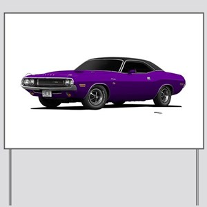 1970 Challenger Plum Crazy Yard Sign