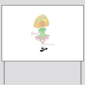 Reel Blonde Princess Yard Sign