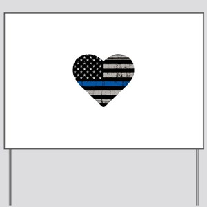 Shop Thin Blue Line Yard Sign