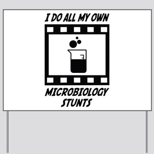 Microbiology Stunts Yard Sign