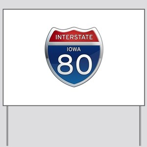 Interstate 80 Yard Signs - CafePress