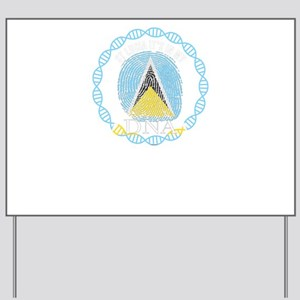 St Lucia Its In My DNA Yard Sign