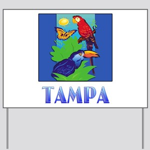 Macaw, Parrot, Butterfly, Jungle TAMPA Yard Sign