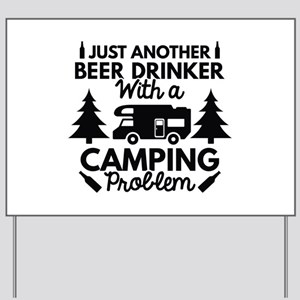 Beer Drinker Camping Yard Sign