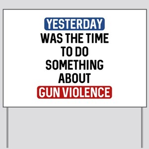 End Gun Violence Now Yard Sign