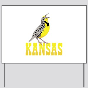 KANSAS Meadowlark Yard Sign