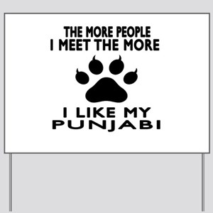 I Like My Punjabi Cat Yard Sign