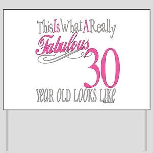 30th Birthday Gifts Yard Sign