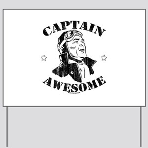Captain Awesome Yard Sign